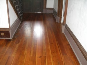 Heart pine floor restortion