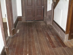 hallway area restoration heart pine floor