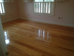 Sap Ash flooring finished using Waterlox Tung Oil
