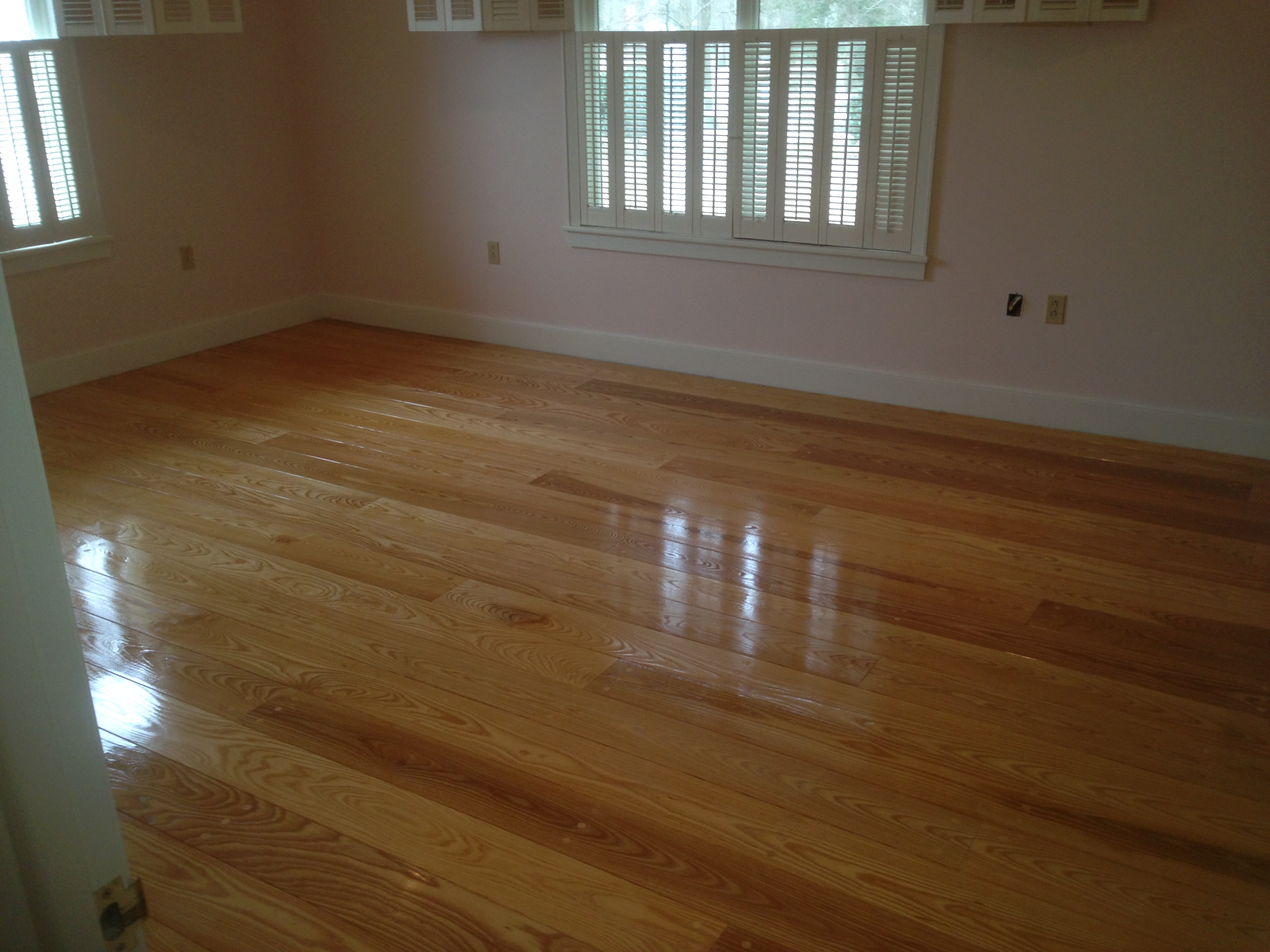 Eco Friendly Products. Sap Ash flooring finished using Waterlox Tung Oil